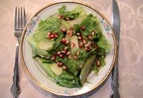 Pomegranate Apple Salad #Vegan #RoshHashanah #recipe