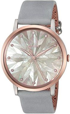 31f86a6a1582 Fossil Women s Vintage Muse Three-Hand Graystone Leather Watch
