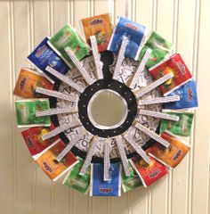 DIY Tea Wreath - Cool crafty gift a child can help with to give to their fav teacher.