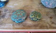 painted rocks ~ turtles by Irene C. Brooks  ...time has faded the paint a bit but their still cute as can be to me