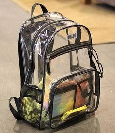 Cheap transparent pvc backpack, Buy Quality student backpack directly from China backpack women Suppliers: Stylish Waterproof Transparent PVC Backpacks Korean Men Beach Bag Female Student Backpack Women bolsas femininas couro mochila Clear Backpacks, Cute Mini Backpacks, Aesthetic Bags, Aesthetic Backpack, Aesthetic Grunge, Bags Online Shopping, Shopping Bag, Mochila Kpop, Accesorios Casual