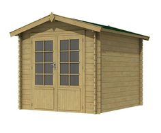 Tuinhuisje / blokhut  model Niger 172 met afmetingen 230 x 172 cm van Woodvision Garage Doors, Shed, Outdoor Structures, Outdoor Decor, Home Decor, Model, Lanzarote, Decoration Home, Room Decor