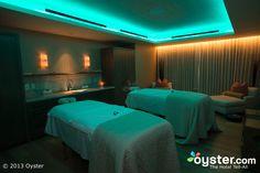 Blue lighting..spa decor..relaxing
