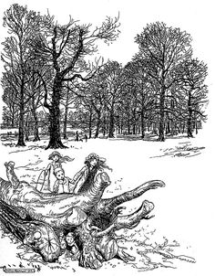 Peter Pan in Kensington Gardens by Arthur Rackham