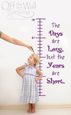 The Years are Short Growth Chart vinyl by OffTheWallExpression, $30.00