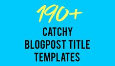 Struggle Writing Blog Post Titles? 190+ Catchy Templates to Steal:  https://blog.red-website-design.co.uk/2017/03/03/struggle-writing-blog-post-titles-190-catchy-templates-steal-infographic/  #Blogging