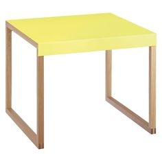 KILO Neon yellow metal side table | Buy now at Habitat UK