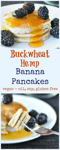 buckwheat hemp banana pancakes