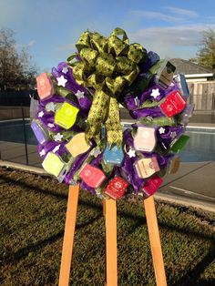 Scentsy wreath I made for a friend who does scentsy