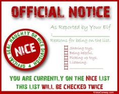 Elf on the Shelf Nice List Certificate {free printable} ~ Fill out . Note Card Template, Santa Letter Template, Santa Letter Printable, Au Pair, Elf On The Shelf, Shelf Elf, Elf Letters, Santa's Nice List, Elf Magic