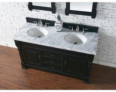 "Bosco Brookfield 60"" Antique Black Double Vanity Bathroom Vanity"