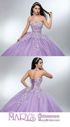 >>>Cheap Sale OFF! >>>Visit>> Style Strapless tulle quinceanera ball gown with sweetheart neck line basque waist line re-embroidery applique lace-up back and matching bolero. Xv Dresses, Quince Dresses, Fashion Dresses, Prom Dresses, Lavender Quinceanera Dresses, Bridal Wedding Dresses, Ball Gowns Prom, Ball Gown Dresses, Sweet 16 Dresses