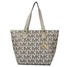 Michael Kors Outlet Logo Signature Large Grey Totes