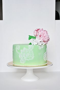 Pink & Mint Cake