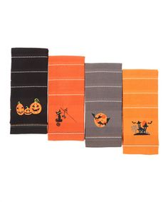 Take a look at this Halloween Embroidered Dish Towel Set by Design Imports on #zulily today!
