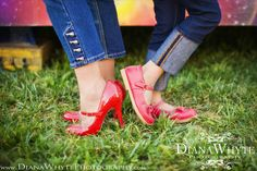 mother daughter photo red shoes  www.DianaWhytePhotography.com