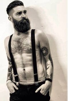 Best Picture For hairy chest tattoo For Your Taste You are looking for something, and it is going to Scruffy Men, Hairy Men, Bearded Men, Hipster Man, Hipster Fashion, Top Models, Chris Millington, Bart Tattoo, Chris John