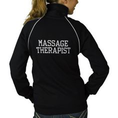 MASSAGE THERAPIST JACKET from Zazzle.com ** Would be awesome way to have new clients inquire about your business! **
