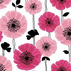 Brewster 2532-20489 Darcy Magenta Modern Floral Wallpaper Darcy Magenta Modern Home Decor Wallpaper Wallpaper