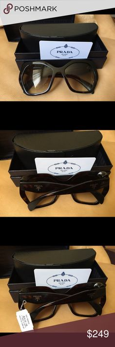 Brand new Prada sunglasses with tags Brand new with tags. Hexagonal. Havana Prada Accessories Sunglasses