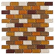 Siracusa Brick Mix Glass Mosaic