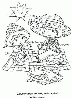 Strawberry Shortcake Picnic Coloring Pages