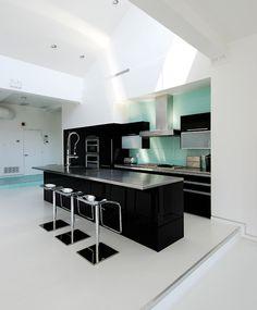 Kitchen:Amazing Modern Black And White Kitchen Design Image 4 Minimalist Black And White Kitchen