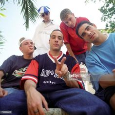 The Backstreet Boys Nick Carter Howie Dorough AJ McLean Brian Littrell and Kevin Richardson pose for an April 1997 portrait in Miami Beach Florida