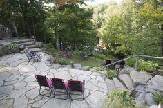 Spa nordique dans les Laurentides à L'Auberge et Spa Beaux Rêves Backyard, Patio, Outdoor Decor, Nature, Yard, Yard, Naturaleza, Porch, Backyards