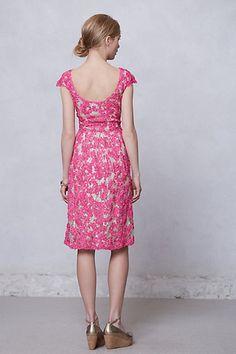 pink lace dress with low scoop back - Jardim lace dress by Yoana Baraschi