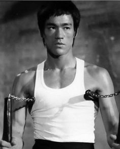 Bruce Lee. He is the closest I come to idolisation. Focus, passion, strength and intelligence.