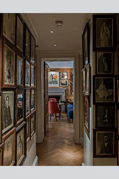 WSJ: Members Only             A look inside Robin Birley's exclusive, exotic new London club.      Images of Oswald's portraits of kings, Gandhi, Churchill and other prominent subjects line a corridor—the whisky bar is in the distance.
