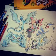 Itsbirdy | pokemon master ッ itsbirdy so much blue sweet team you have there ...