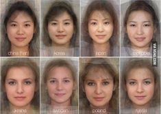 """Curious study calculates the """"average"""" female face for each country"""
