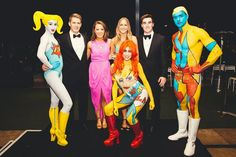 Pop art themed bodypainting and roving performers