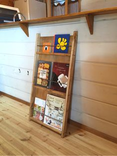 Magazine Holders, Magazine Rack, Brochure Holders, Camping Table, Store Displays, Bookbinding, Wood Design, Ladder Decor, Bookcase