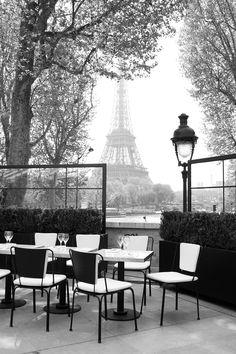 the view from the terrace at le palais de tokyo. (paris)