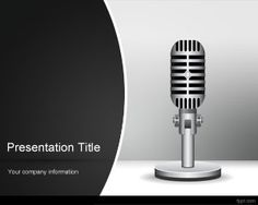 Free Radio Music PowerPoint template is a radio mic slide design with gray background and curve effect in the slide design that you can download for Microsoft PowerPoint 2007 and 2010