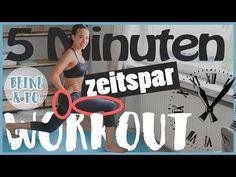 5 Minuten WOHNZIMMER WORKOUT - Kurz und intensiv - Beine und Po trainieren - HIIT Workout 1/4 - YouTube
