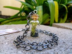 Gun Metal Terrarium Necklace