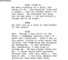 Deleted Captain Swan speech. Oooohhh if this is real just kill me alreafy