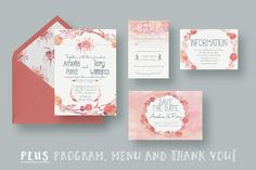 Watercolour Wedding Suite 2.0 by Knotted Design on Creative Market
