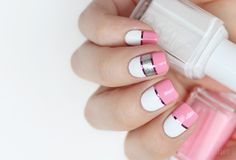 Pink White Nail Polish Best Of 35 Pink and White Nails and Designs Pink White Nails, Pink Nail Art, White Nail Polish, White Nail Art, Rose Gold Nails, Striped Nails, Pink Nails, White Nail Designs, Nail Art Designs