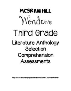 This is a 3rd grade unit plan for the Wonders series by