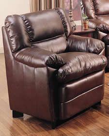 Brown Harper Overstuffed Leather Chair | NC Furniture | North Carolina Furniture | Furniture Direct NC