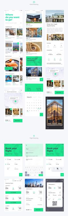 Reise iOS UI KIt is high quality pack of 36 screens to kickstart your travel projects and speed up your design workflow.Reise includes 36 high quality iOS screen templates designed in Sketch, 6 categories (Hotel Booking, Flight Booking, Restaurants, My P…