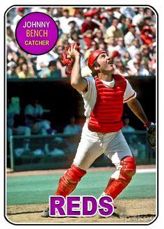 Baseball Photos, Baseball Cards, Johnny Bench, Cincinnati Reds Baseball, Mlb, Football, Sports, House, Vintage