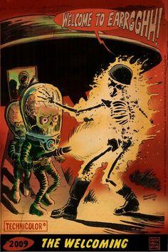 Mars Attacks art by Francesco Francavilla.