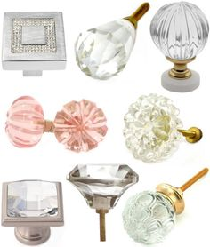 Crystal door/drawer knobs