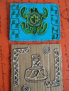 Con 7º TM y 7º TT         trabajamos línea, con hilos      sobre cartones      sobre los pueblos originarios                             ...